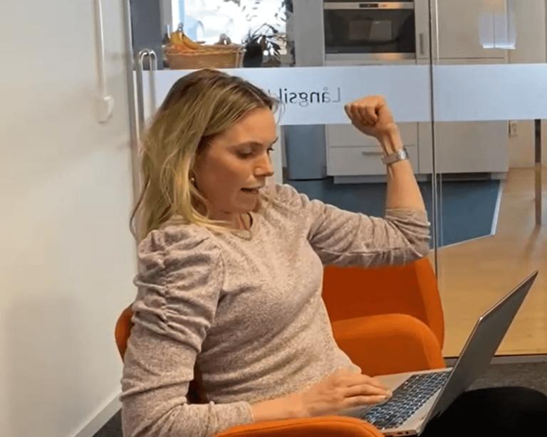 Annika visar känslor i Teams