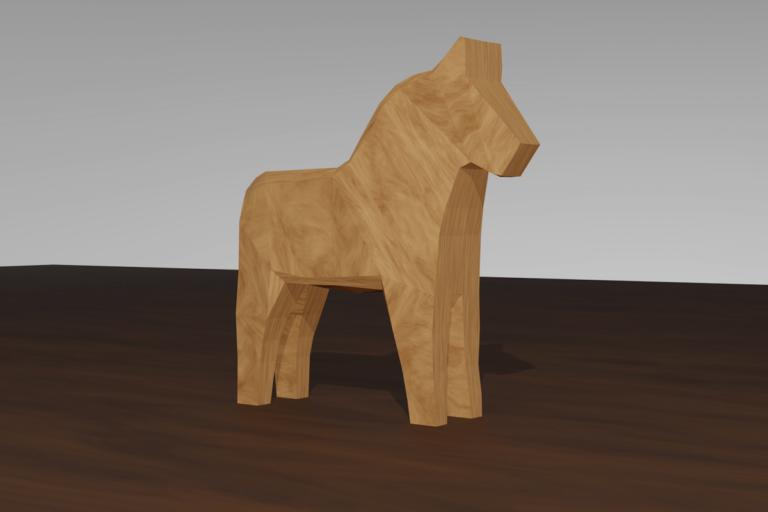 Omålad trähäst